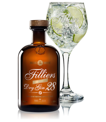 FILLIERS DRY GIN28 50CL/46% + GLAS