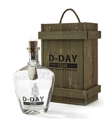 D-day gin 70CL/40.44% in kist